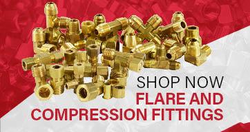 7//8 Size Midland 18-130 Brass Forged Compression Union Elbow