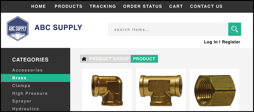 Customers can search your site for parts.