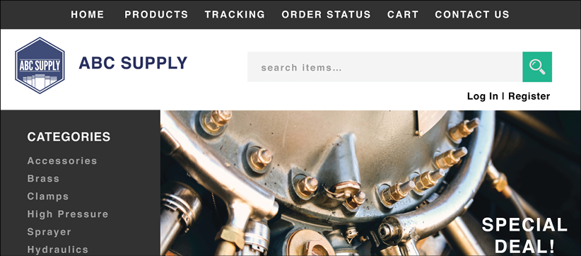 Shop Brass Catalog, your fully functional branded E-commerce site.
